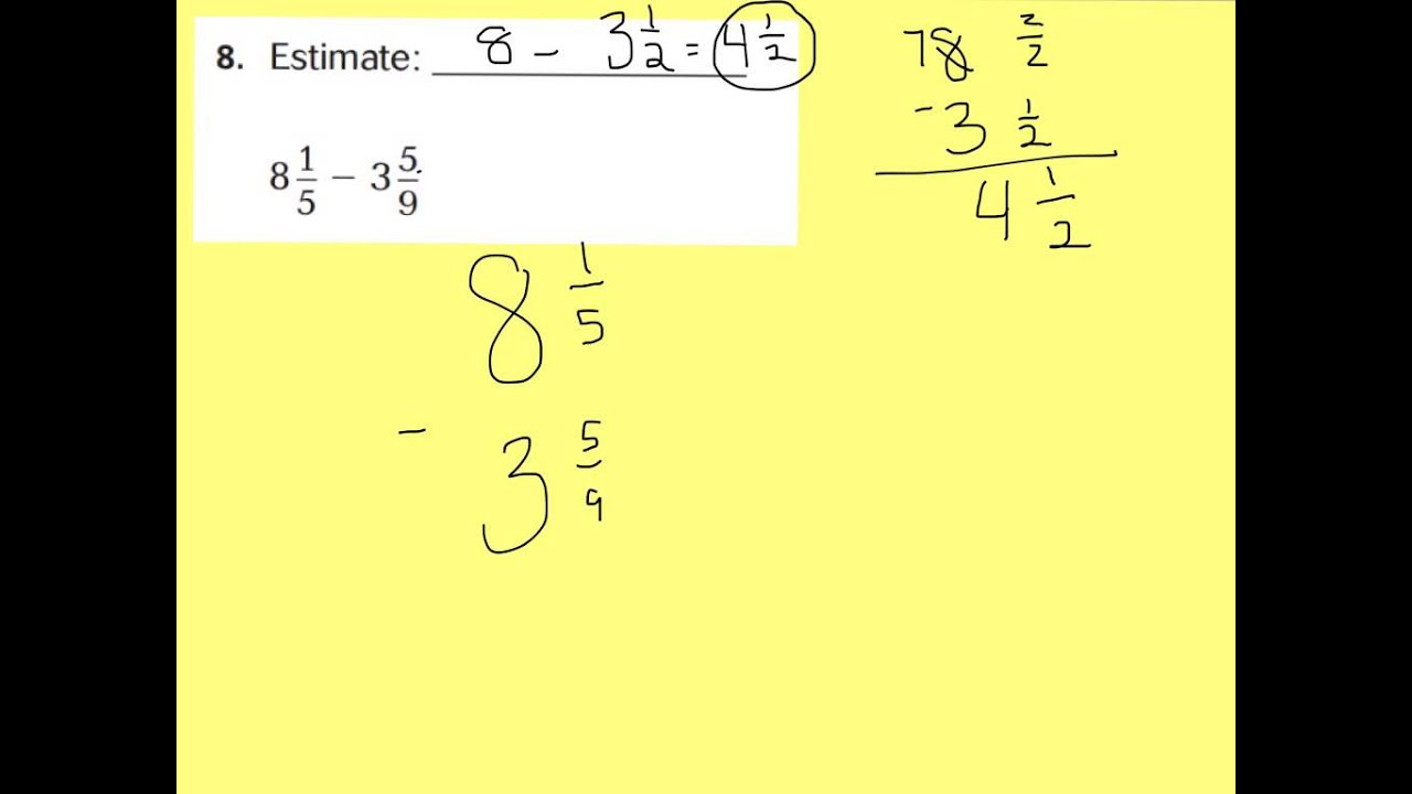 practice and homework lesson 6.6 add and subtract mixed numbers