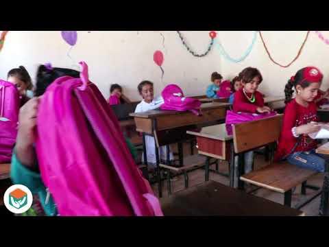 توزيع 10092 حقيبة مدرسية بالاضافة الى القرطاسية مع توعية طلابنا بمخاطر فايروس كورونا