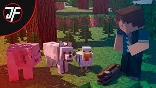Animal school: Fishing (Minecraft Animation) [ parody of monster school ]