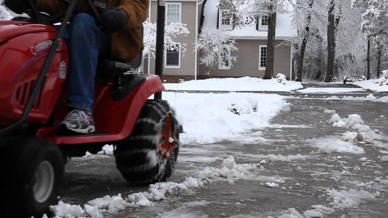 Troy Bilt Lawn Mower With Snow Plow Youtube