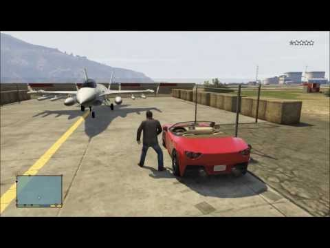 GTA5: Stealing Fighter Jet & Attack Helicopter from Military Base