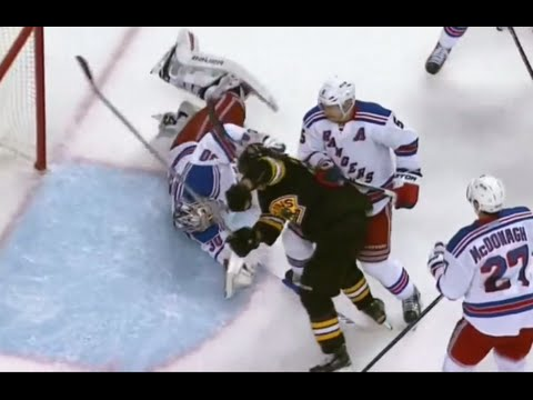 Brad Marchand Goaltender Interference Penalty on Lundqvist