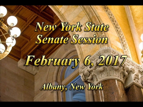 New York State Senate Session - 02/06/17