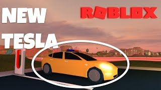 Roblox Jailbreak | Buying a tesla in jailbreak (Model 3) funny