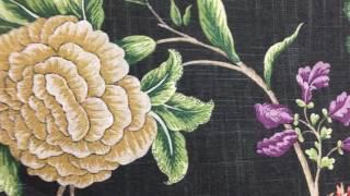 Braemore Graphite Floral Toile 4 inch Home Decor Fabric