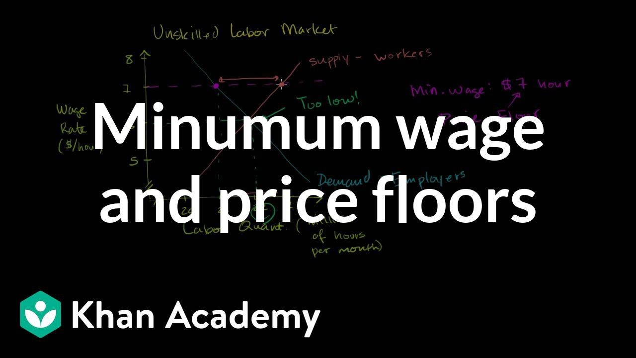 Minimum Wage And Price Floors Video Khan Academy