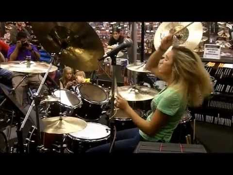 hannah ford peace love drums guitar center texas tour youtube. Black Bedroom Furniture Sets. Home Design Ideas