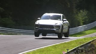 2015 Porsche Macan GTS spied testing HARD  on the Nürburgring!
