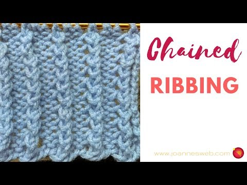 Chained Ribbing Knitting Pattern - Rib Knit Patterns