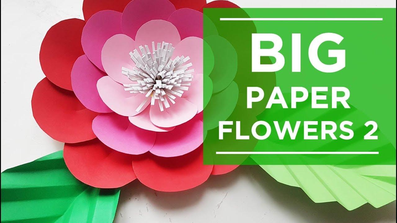 Big paper flowers diy huge flowers wall backdrop wedding big paper flowers diy huge flowers wall backdrop wedding decoration part 2 mightylinksfo
