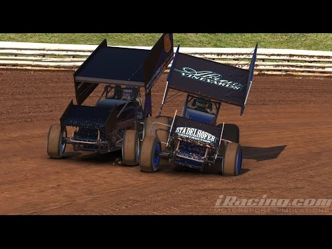 Hard Battling For The Win! iRacing 305 Dirt Sprint Cars @ Williams Grove Speedway