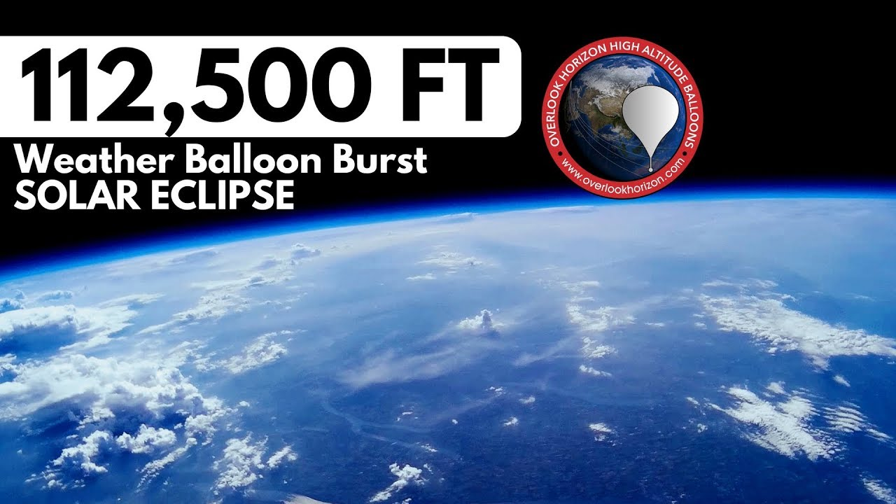 Solar Eclipse | High Altitude Weather Balloon Burst | OLHZN-9 | Finger  Lakes NY