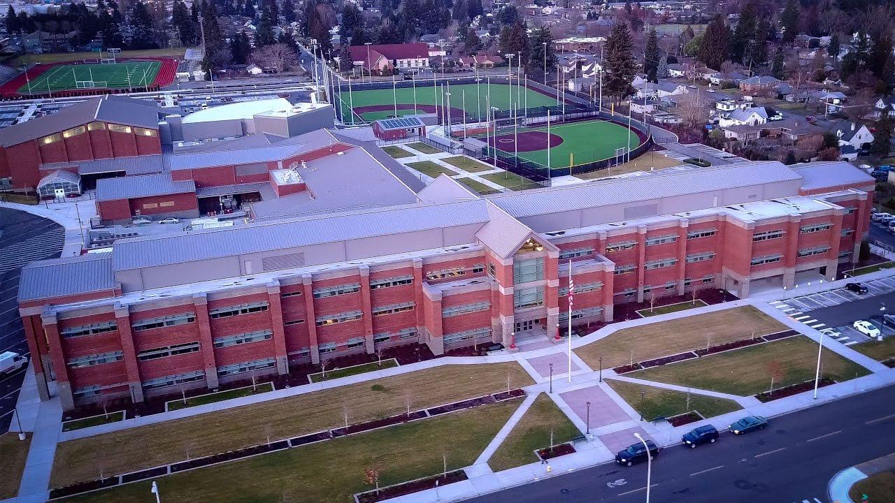 Auburn High School King County Washington Aerial View