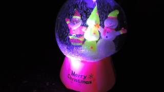 Gemmy Neon Snowglobe Christmas Inflatable #87966 - Santa With Snowman And Tree