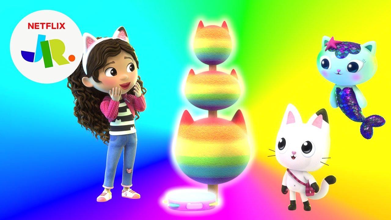 Rainbow Tree's Drip Dropping Colors 🌈 Gabby's Dollhouse   Netflix Jr