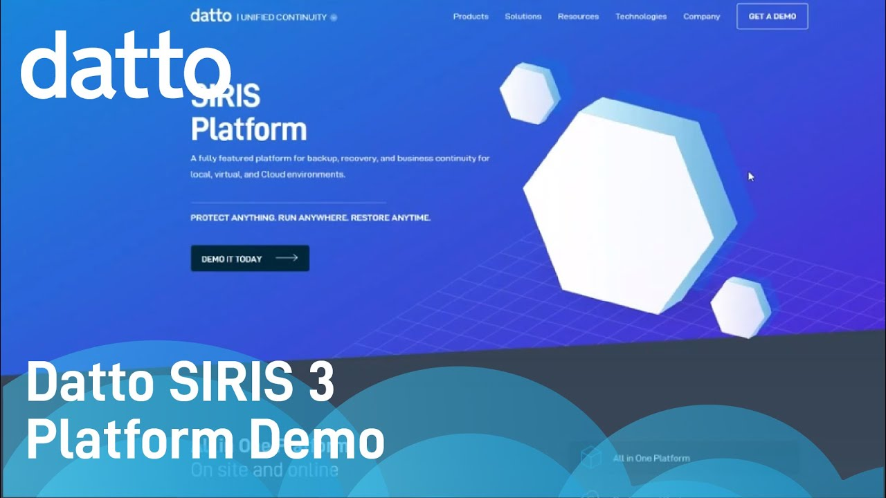 Datto SIRIS 3 | Platform Demo 2018