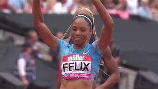 Allyson Felix wins 400m - London Diamond League 2017