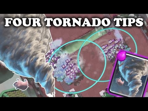Clash Royale | Tornado Gameplay | Tornado Tech