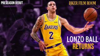 Lonzo Ball Returns | Lakers Highlights