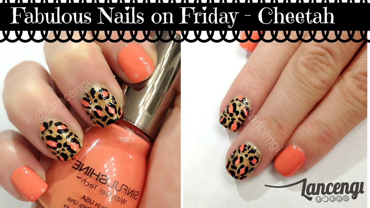 Diy Easy Cute Nail Art Designs 5 Classy Cheetah Nails Youtube
