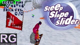 Steep Slope Sliders - Sega Saturn - Showcase all tracks and characters gameplay  [HD 1080p]