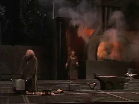Siegfried forges Notung anew (Boulez-Cheréau 1980)