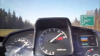 Honda VFR 750F RC24 acceleration and Max speed.