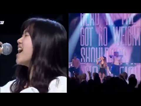 Problem Compare Seo Yeh Ahn with Ariana Grande 서예안 아리아나 그란데 프라블럼 무대 비교