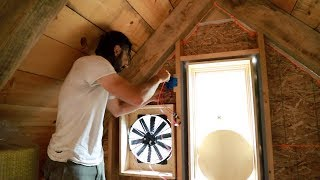 Off Grid Alternative to Air Conditioning?  Making a Whole House Fan From a Radiator Fan