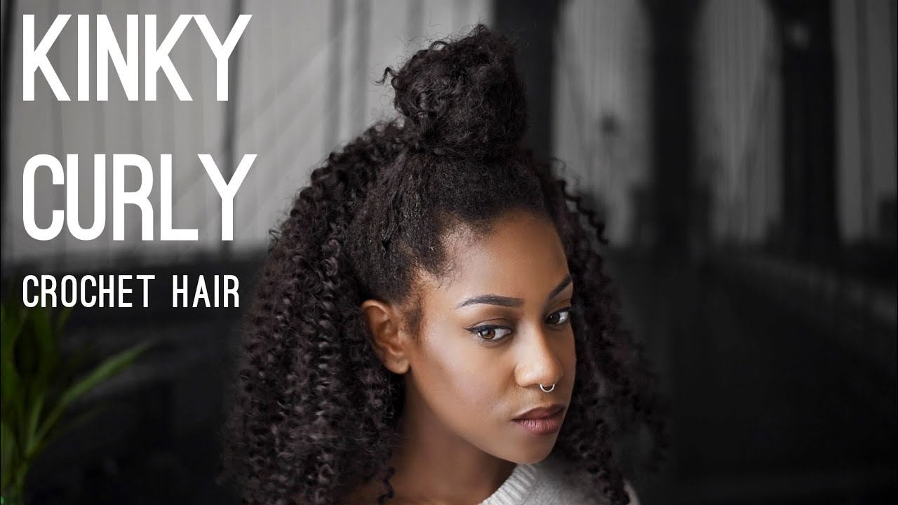 Crochet Hair Styles With Kinky Hair : Best Curly Crochet Braids X-Pression - YouTube