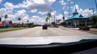 Driving Highway 192 in Kissimmee / FL