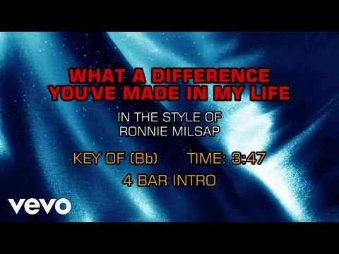 Ronnie Milsap - What A Difference You've Made In My Life (Karaoke)
