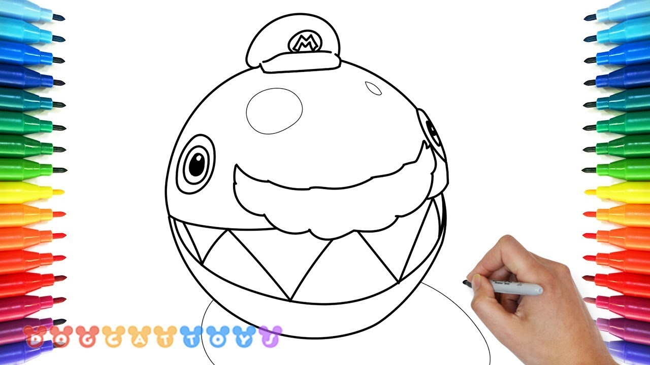 How To Draw Super Mario Odyssey Chain Chomp 9 Drawing Coloring
