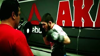 Khabib Nurmagomedov Striking Training for Conor McGregor HD #UFC229