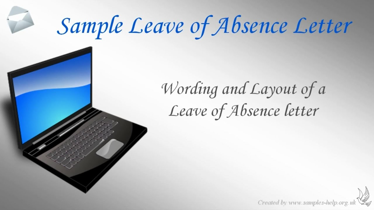 How to write a leave of absence letter youtube altavistaventures Choice Image