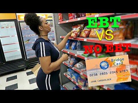 SHOPPING WITH EBT VS NO EBT