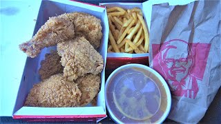 Eating the Perfect CRISPY KFC FRIED CHICKEN