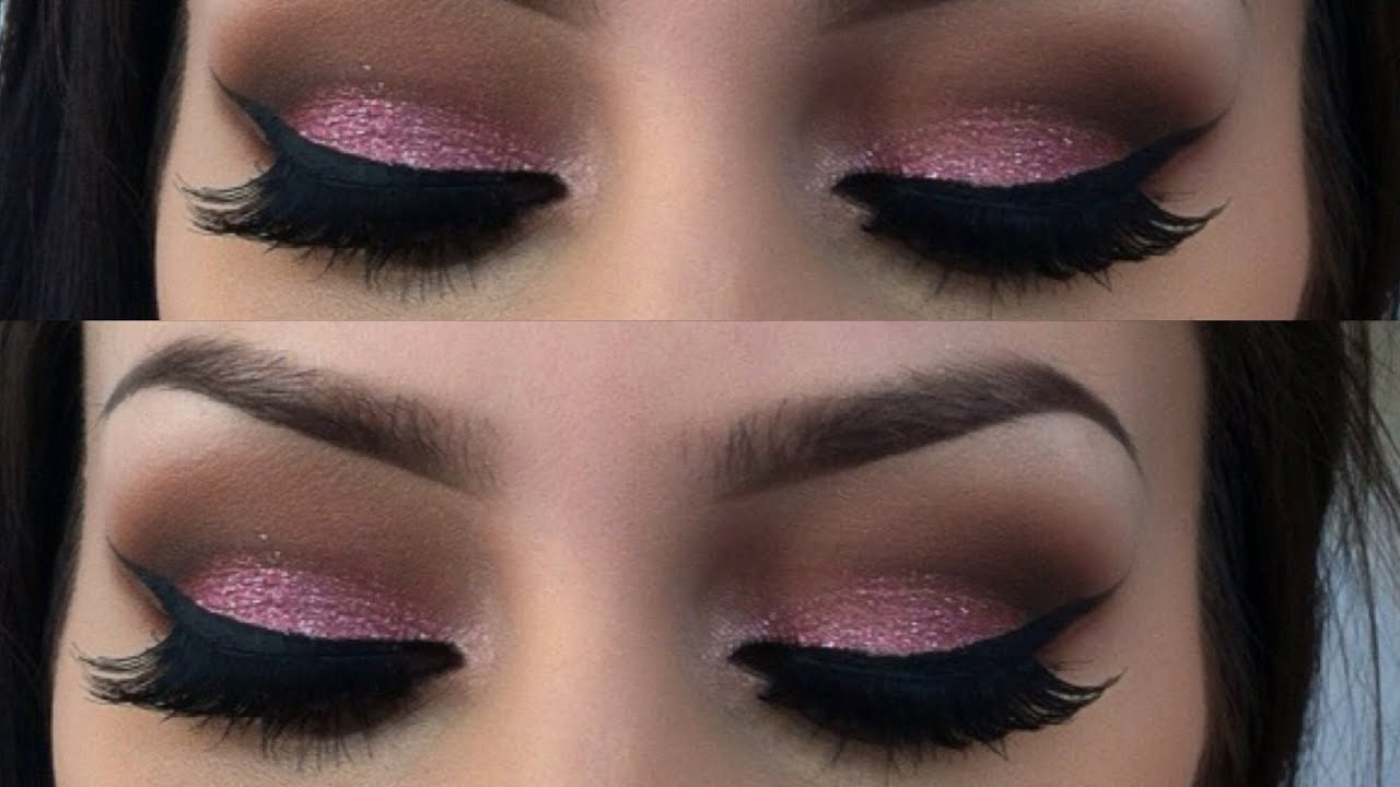 Pink Glitter Valentines Day Makeup Tutorial Youtube