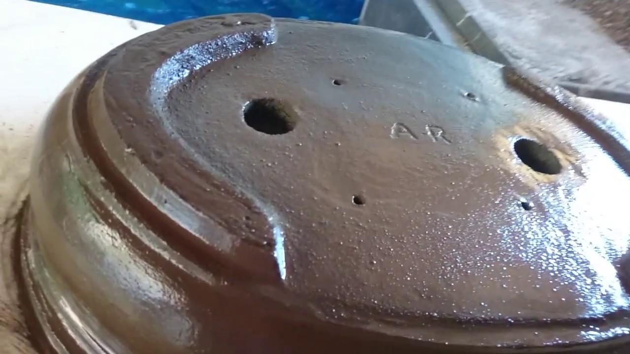 Reforma de la plantilla para moldeado de las macetas hoy trabajando ...