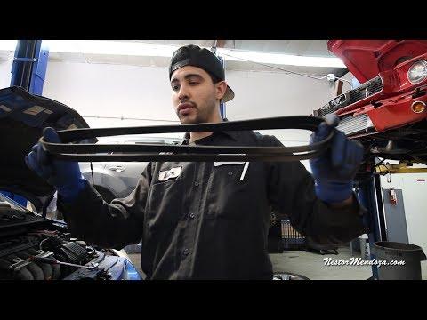 Serpentine Belt on a 2008 Honda Fit: How to adjust Belts
