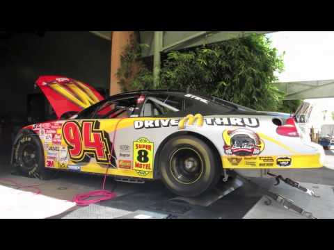 Bill Elliott #94 McDonald's NASCAR road race car on chassis dyno