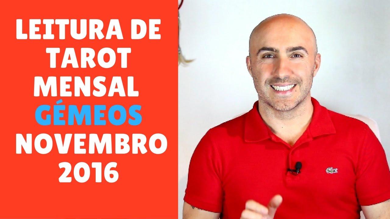 LEITURA DE TAROT MENSAL GÉMEOS NOVEMBRO 2016