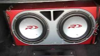I LOVE BASS 2 12 Alpine Type R S Powered By A 1200 Watt Kenwood Amp