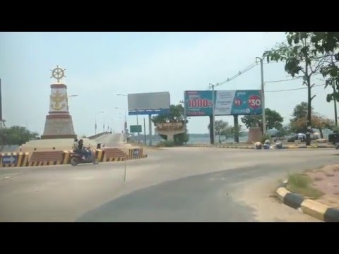 Asian Travel, Koh Kong provincial town and cross the bridge to Thailand border