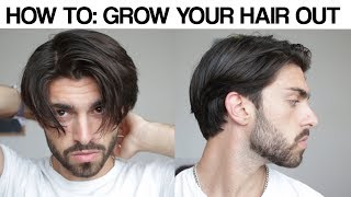 HOW TO GROW YΟUR HAIR OUT   Get Past the Awkward Stage   Men's Hair