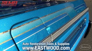 Wild 1964 Chevy Impala Lowrider Convertible at SEMA 2015 - Must See Paint - Eastwood