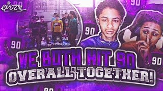 MY BROTHER AND I HIT 90 OVERALL AT THE SAME TIME LIVE REACTION FINALLY GOT THE BIKE NBA 2K18!!!