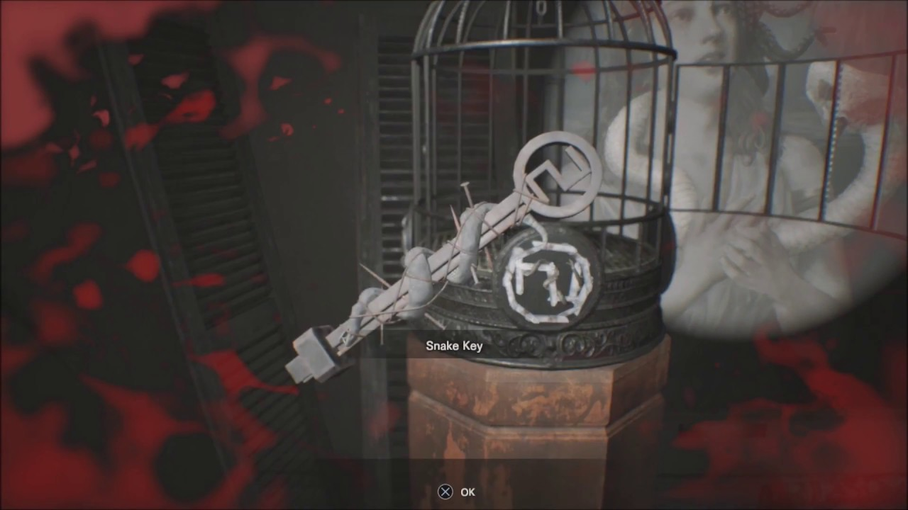 Resident Evil 7 Bedroom Dlc Get Snake Key By Use Fork Make Serpent Shadow Youtube