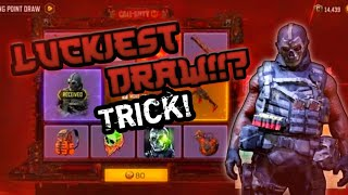 LUCKIEST MOLTEN POINT DRAW!!?TRICKS |COD MOBILE LUCKY DRAW