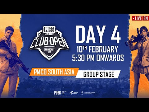 [EN] PMCO South Asia Group Stage Day 4 | Spring Split | PUBG MOBILE CLUB OPEN 2020
